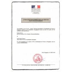 Lebenspartnerschaftsurkunde französisch