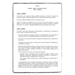 traduction Statuts de société